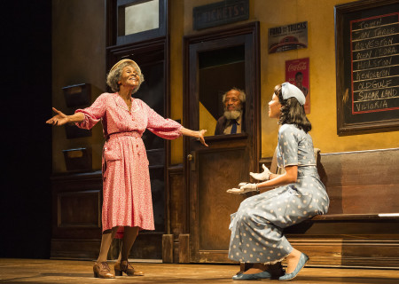 (L–R) Cicely Tyson, Arthur French and Jurnee Smollett-Bell in the critically acclaimed, Tony-nominated Broadway revival of Horton Foote's American masterpiece 'The Trip to Bountiful' at the Ahmanson Theatre.