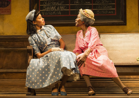 (L–R) Jurnee Smollett-Bell and Cicely Tyson in the critically acclaimed, Tony-nominated Broadway revival of Horton Foote's American masterpiece 'The Trip to Bountiful' at the Ahmanson Theatre.