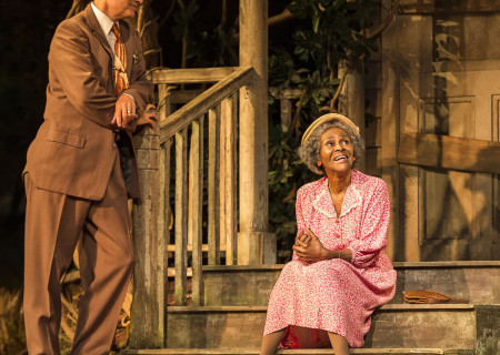 (L–R) Devon Abner and Cicely Tyson in the critically acclaimed, Tony-nominated Broadway revival of Horton Foote's American masterpiece 'The Trip to Bountiful' at the Ahmanson Theatre.