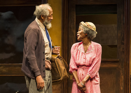 (L–R) Arthur French and Cicely Tyson in the critically acclaimed, Tony-nominated Broadway revival of Horton Foote's American masterpiece 'The Trip to Bountiful' at the Ahmanson Theatre.