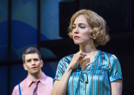 "Shayne Kennon and Leigh Ann Larkin in ""Harmony"" at the Ahmanson Theatre."