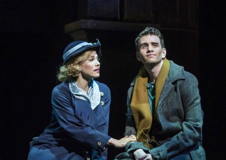 "Leigh Ann Larkin and Shayne Kennon in ""Harmony"" at the Ahmanson Theatre."
