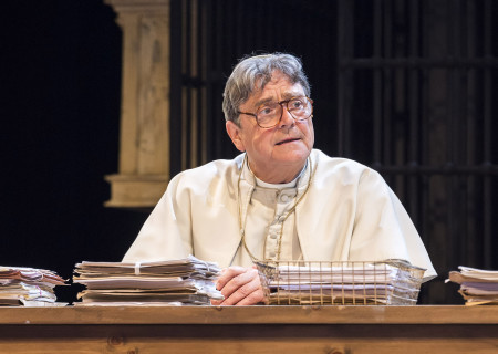 """Richard O'Callaghan in """"The Last Confession"""" at the Ahmanson Theatre."""