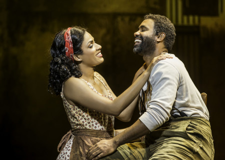 """Alicia Hall Moran and Nathaniel Stampley in """"The Gershwins' Porgy and Bess."""""""