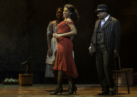 """(L–R) Denisha Ballew, Alicia Hall Moran and Kingsley Leggs in """"The Gershwins' Porgy and Bess."""""""