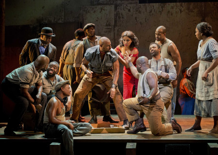 """Alvin Crawford (center) and the cast of """"The Gershwins' Porgy and Bess."""""""