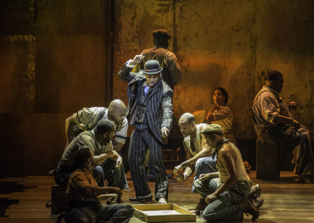 """Kingsley Leggs (standing center) and the cast of """"The Gershwins' Porgy and Bess."""""""