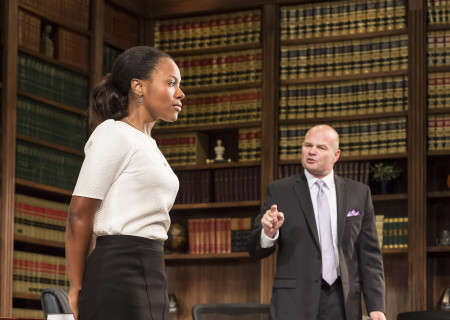 DeWanda Wise and Chris Bauer in 'Race' at the Kirk Douglas Theatre.