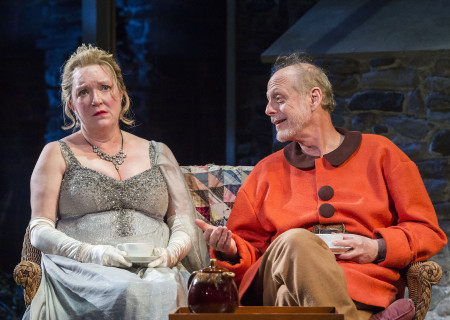 Kristine Nielsen and Mark Blum in Christopher Durang's Tony Award-winning play 'Vanya and Sonia and Masha and Spike' at the Mark Taper Forum.