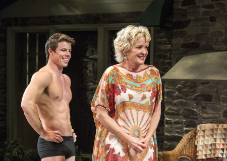 David Hull and Christine Ebersole in Christopher Durang's Tony Award-winning play 'Vanya and Sonia and Masha and Spike' at the Mark Taper Forum.