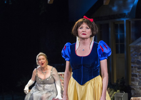 (L–R) Kristine Nielsen and Christine Ebersole in Christopher Durang's Tony Award-winning play 'Vanya and Sonia and Masha and Spike' at the Mark Taper Forum.