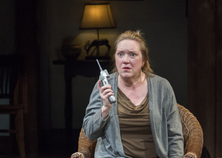 Kristine Nielsen in Christopher Durang's Tony Award-winning play 'Vanya and Sonia and Masha and Spike' at the Mark Taper Forum.