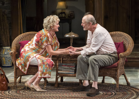 Christine Ebersole and Mark Blum in Christopher Durang's Tony Award-winning play 'Vanya and Sonia and Masha and Spike' at the Mark Taper Forum.