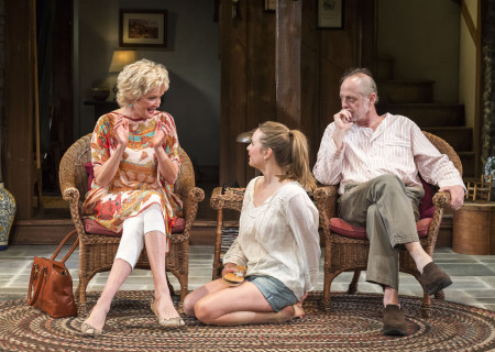 (L–R) Christine Ebersole, Liesel Allen Yeager and Mark Blum in Christopher Durang's Tony Award-winning play 'Vanya and Sonia and Masha and Spike' at the Mark Taper Forum.