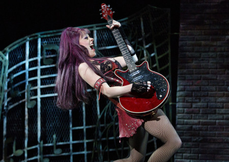 """Ruby Lewis in the national tour of Queen and Ben Elton's """"We Will Rock You."""""""