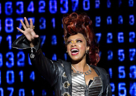 """Jacqueline B. Arnold in the national tour of Queen and Ben Elton's """"We Will Rock You."""""""