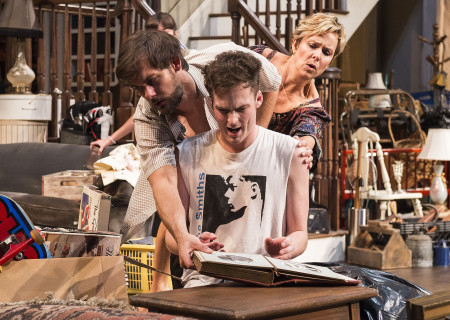 (L–R) Robert Beitzel, Will Tranfo and Melora Hardin in Branden Jacobs-Jenkins' 'Appropriate' at the Mark Taper Forum.
