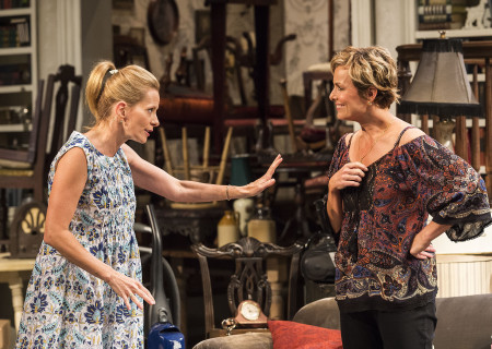 (L–R) Missy Yager and Melora Hardin in Branden Jacobs-Jenkins' 'Appropriate' at the Mark Taper Forum.