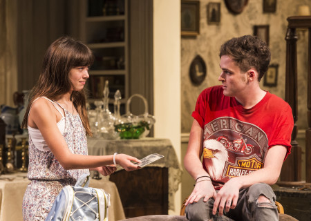 Grace Kaufman and Will Tranfo in Branden Jacobs-Jenkins' 'Appropriate' at the Mark Taper Forum.