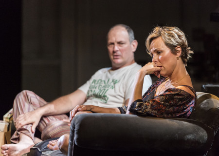 David Bishins and Melora Hardin in Branden Jacobs-Jenkins' 'Appropriate' at the Mark Taper Forum.
