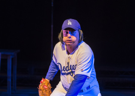 Herbert Siguenza in Culture Clash's 'Chavez Ravine: An L.A. Revival' at the Kirk Douglas Theatre.