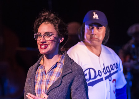 Sabina Zuniga Varela and Herbert Siguenza in Culture Clash's 'Chavez Ravine: An L.A. Revival' at the Kirk Douglas Theatre.