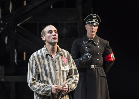 (L–R) Charlie Hofheimer and Hugo Armstrongin Martin Sherman's 'Bent' at the Mark Taper Forum.