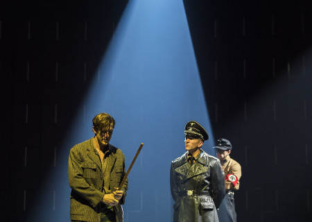 (L–R) Patrick Heusinger, Andy Mientus, Brionne Davis and Tom Berklund in Martin Sherman's 'Bent' at the Mark Taper Forum.