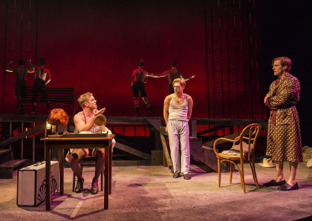 (L–R) Jake Shears, Andy Mientus and Patrick Heusinger in Martin Sherman's 'Bent' at the Mark Taper Forum.