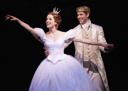 Paige Faure and Andy Huntington Jones in the national tour of 'Rodgers & Hammerstein's Cinderella' at the Ahmanson Theatre.