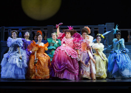 The cast of the national tour of 'Rodgers & Hammerstein's Cinderella' at the Ahmanson Theatre.
