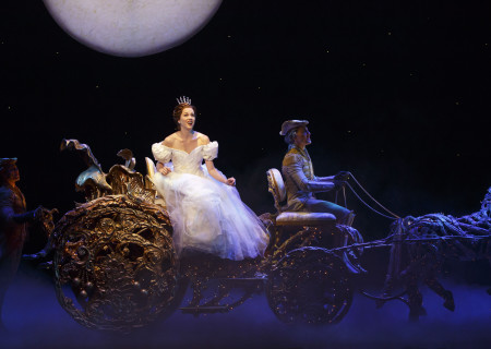 (L-R) Adrian Arrieta, Paige Faure and Blakely Slaybaugh in the national tour of 'Rodgers & Hammerstein's Cinderella' at the Ahmanson Theatre.