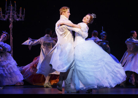 Andy Huntington Jones and Paige Faure in the national tour of 'Rodgers & Hammerstein's Cinderella' at the Ahmanson Theatre.