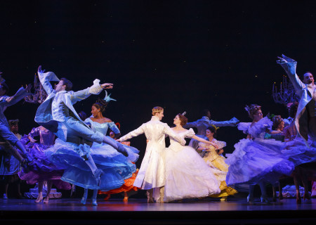 Andy Huntington Jones, Paige Faure and the cast of 'Rodgers & Hammerstein's Cinderella' in the national tour at the Ahmanson Theatre.