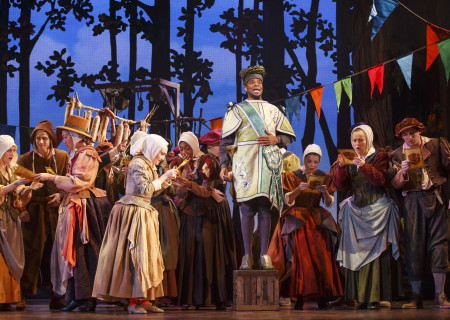 The cast of 'Rodgers & Hammerstein's Cinderella' in the national tour at the Ahmanson Theatre.