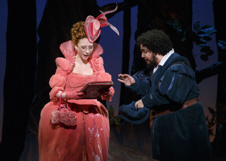 Kaitlyn Davidson and David Andino in the national tour of 'Rodgers & Hammerstein's Cinderella' at the Ahmanson Theatre.