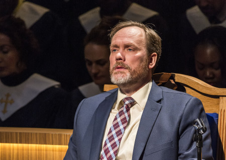 Andrew Garman in 'The Christians' at the Mark Taper Forum.