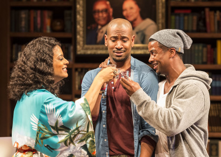 (L–R) Cynda Williams, Bryan Terrell Clark and Kamal Angelo Bolden in Paul Oakley Stovall's 'Immediate Family' at the Mark Taper Forum.