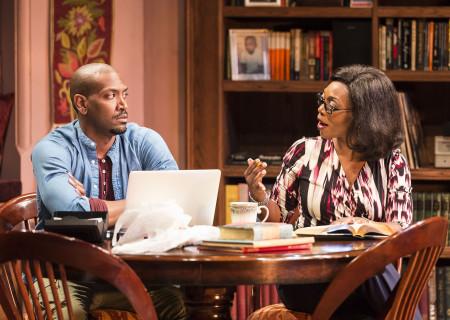 (L–R) Bryan Terrell Clark and Shansia Davis in Paul Oakley Stovall's 'Immediate Family' at the Mark Taper Forum.
