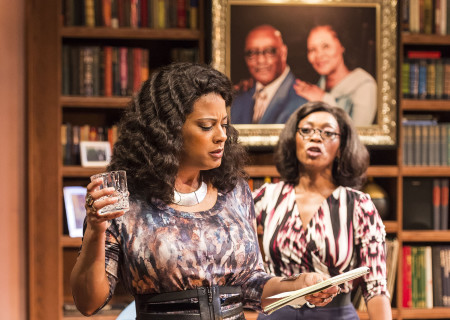 Cynda Williams and Shansia Davis in Paul Oakley Stovall's 'Immediate Family' at the Mark Taper Forum.