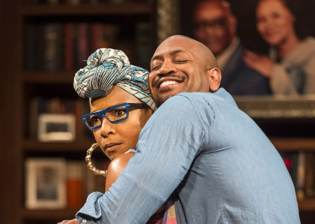 J. Nicole Brooks and Bryan Terrell Clark in Paul Oakley Stovall's 'Immediate Family' at the Mark Taper Forum.