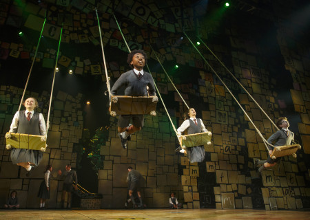 The company of 'Matilda The Musical' in the National Tour at Ahmanson Theatre.