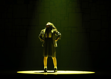 Gabby Gutierrez in the National Tour of 'Matilda The Musical' at the Ahmanson Theatre.