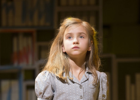 Mabel Tyler in the National Tour of 'Matilda The Musical' at the Ahmanson Theatre.<br />