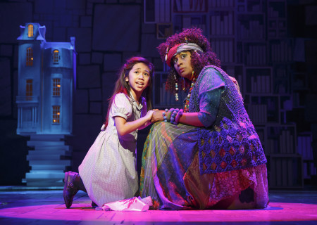 (L-R) Gabby Gutierrez and Ora Jones in the National Tour of 'Matilda The Musical' at the Ahmanson Theatre.<br />