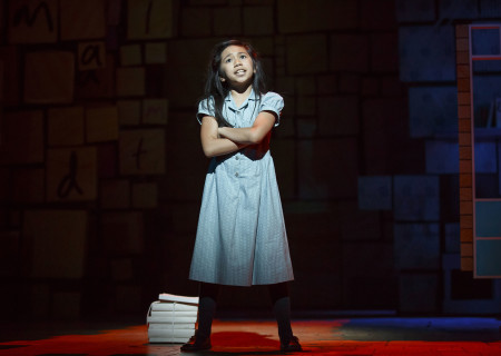 Gabby Gutierrez in the National Tour of 'Matilda The Musical' at the Ahmanson Theatre.<br />