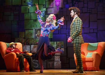 (L-R) Danny Tieger, Cassie Silva and Quinn Mattfeld in the National Tour of 'Matilda The Musical' at the Ahmanson Theatre.<br />