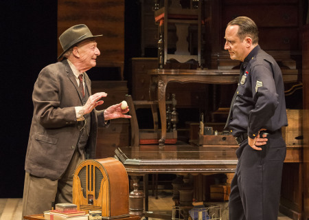 (L–R) Alan Mandell and Sam Robards in Arthur Miller's classic drama 'The Price' at the Mark Taper Forum.