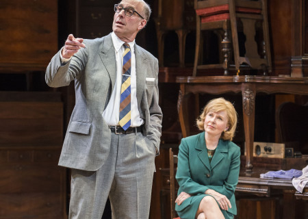 John Bedford Lloyd and Kate Burton in Arthur Miller's classic drama 'The Price' at the Mark Taper Forum.