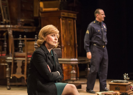 Kate Burton and Sam Robards (background) in Arthur Miller's classic drama 'The Price' at the Mark Taper Forum.